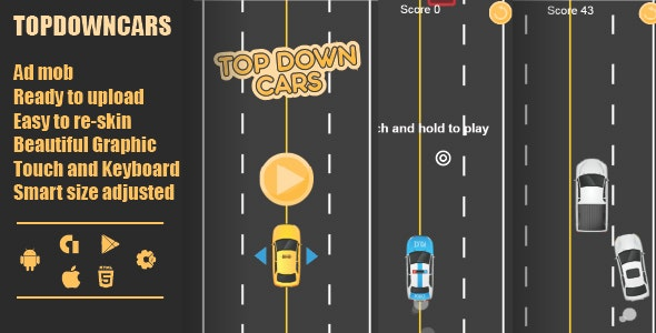 TopDown Cars html - CodeCanyon Item for Sale
