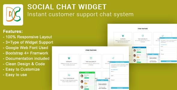Social Chat Widget