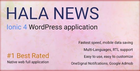 Full Ionic 4 Mobile App for WordPress - Admob, Native Ads, Social Login - Hala News Pro