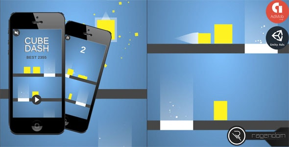 Cube Dash - Complete Unity Game + Admob - CodeCanyon Item for Sale