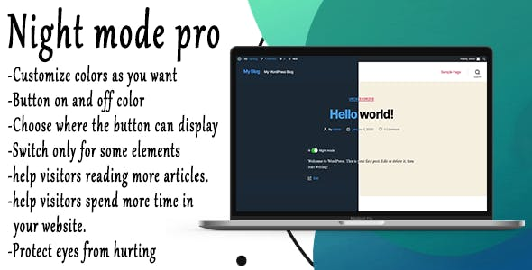 Night Mode Pro - WordPress Plugin
