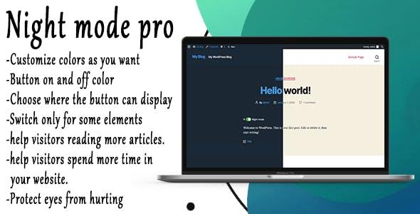 Night Mode Pro - WordPress Plugin