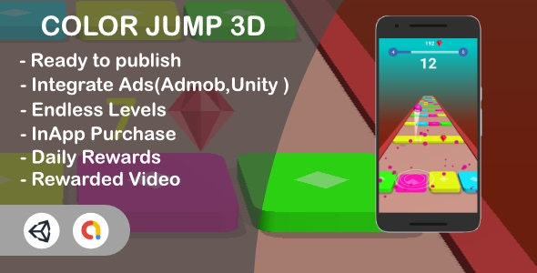Color Jump 3d (Unity Template) - CodeCanyon Item for Sale