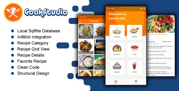 Cookstudio-Recipe App By Flutter With AdMOb - CodeCanyon Item for Sale