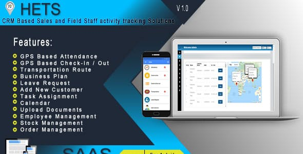HETS - Field Staff Activity Tracking Solutions - .NET based Admin Panel + Android Mobile App