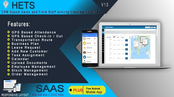 HETS - Field Staff Activity Tracking Solutions - .NET based Admin Panel + Android Mobile App - CodeCanyon Item for Sale