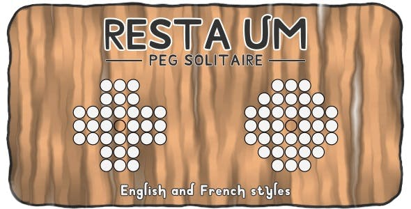 Resta Um (Peg Solitaire Puzzle) - HTML5 Board game