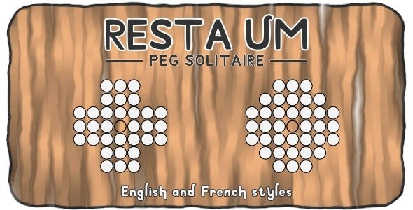 Resta Um (Peg Solitaire Puzzle) - HTML5 Board game - CodeCanyon Item for Sale