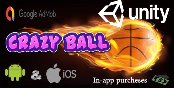 Crazy ball shooting (Unity 3D Game for Android, IOS with Admob)