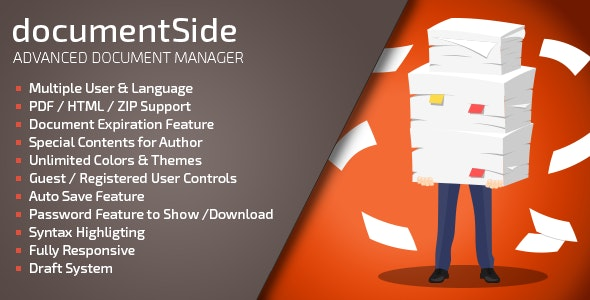 documentSide PHP Document & Guide Manager - CodeCanyon Item for Sale