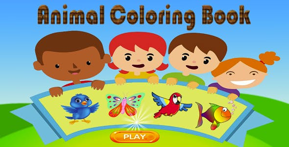 Animal Coloring Game