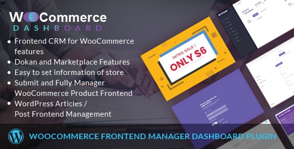 WooCommerce Frontend Dashboard Manager - CodeCanyon Item for Sale
