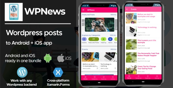 WPPosts | Wordpress to Android/iOS News/Posts/Blog App - CodeCanyon Item for Sale