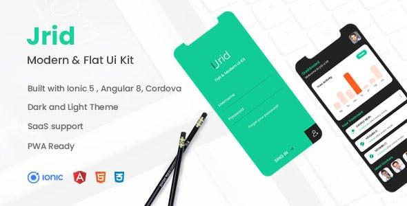 Jrid - Modern Flat UI kit Ionic 5