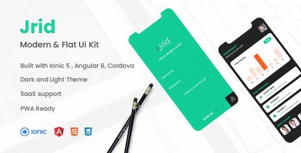 Jrid - Modern Flat UI kit Ionic 5 - CodeCanyon Item for Sale