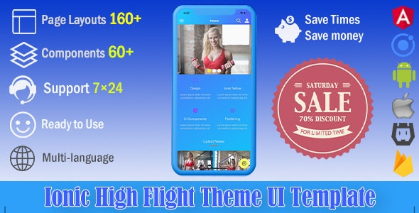 High Flight | Ionic 4 UI Theme / Template App | Starter App - CodeCanyon Item for Sale