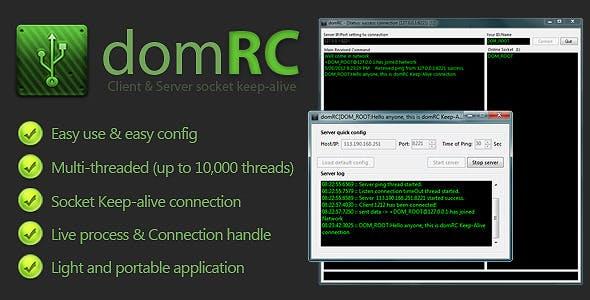 domRC - Socket keep-alive chat Server & Client