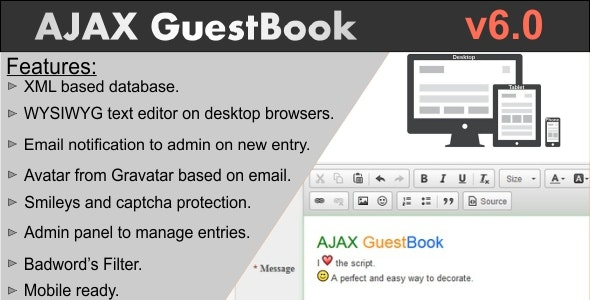 AJAX GuestBook - CodeCanyon Item for Sale