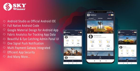Pubg Tournament App Source Code with Admin Panel - CodeCanyon Item for Sale