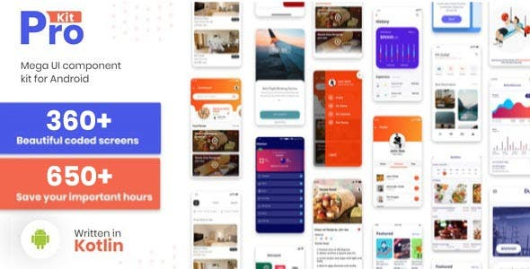 Prokit - Android UI Design Template Kit with SoftUI