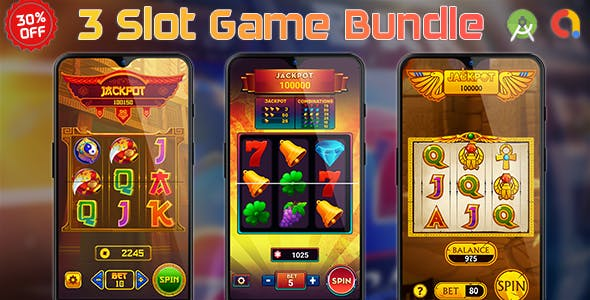 3 Slot Game Bundle (Source Code) Pack, Combo