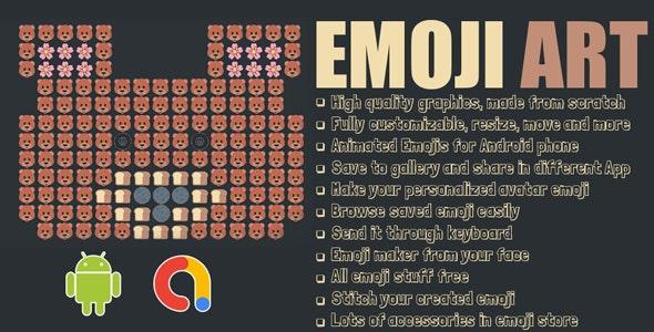 EmojiMaker | All Emoji Arts | Cool Emoji Art Sharing | Word Arts | Android App | Admob - CodeCanyon Item for Sale