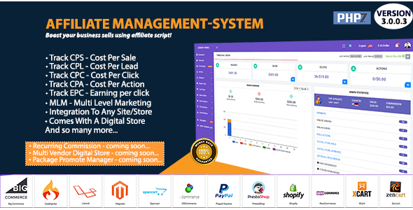 Affiliate Management System - CodeCanyon Item for Sale