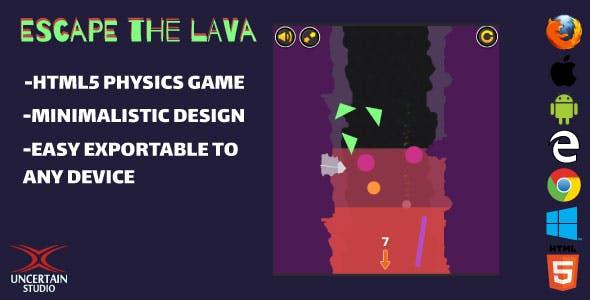 Escape The Lava - HTML5 Game