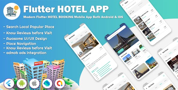 Flutter Hotel Booking Apps