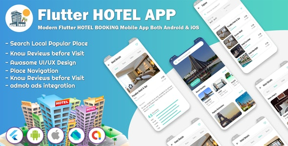 Flutter Hotel Booking Apps - CodeCanyon Item for Sale