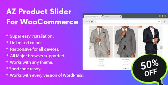 AZ Product Slider Pro For WooCommerce