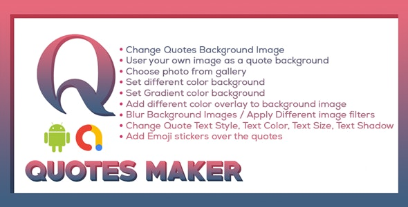 Picture Quotes and Creator | Text On Photo maker |  Quote Maker | Android Ads - CodeCanyon Item for Sale