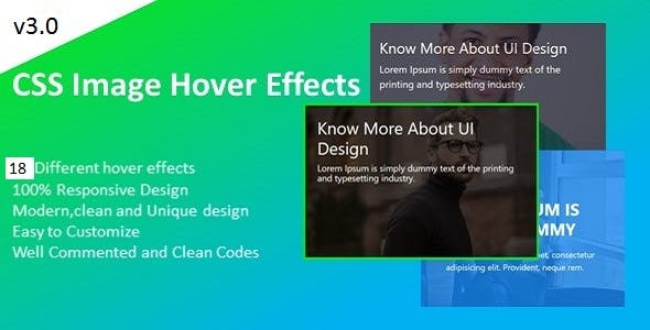 HoverFace – CSS3 Image Hover Effects