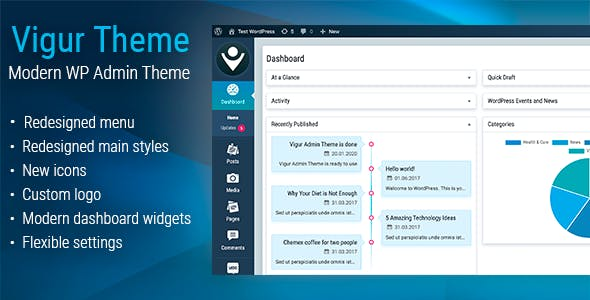 Vigur Theme - WordPress Admin Theme