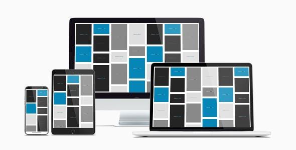 Responsive CSS Flexbox Masonry Grid Framework