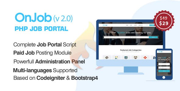 OnJob - PHP Job Portal Application