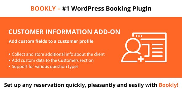 Bookly Customer Information (Add-on)