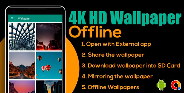 4K HD Wallpaper Offline | Wallpaper HD - Offline | Android App | Admob Ads - CodeCanyon Item for Sale