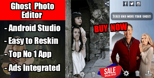 Ghost Effect Photo Editor Android Application with Ads Integrated