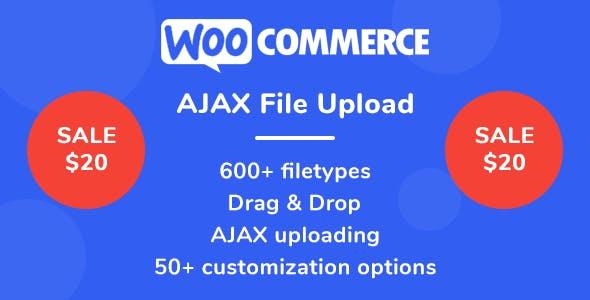 WooCommerce AJAX File Upload (600+ filetypes)