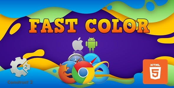 Fast Color - HTML5 Construct 2 Game (.Capx)