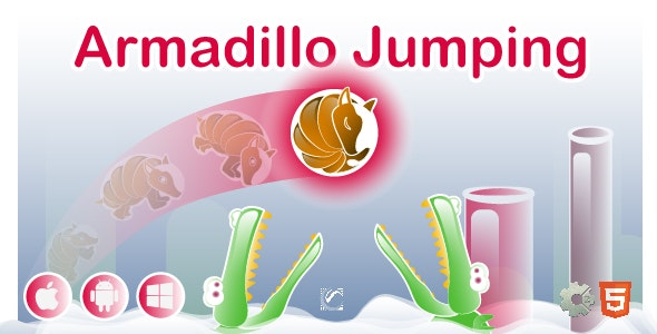 Armadillo Jumping • HTML5 + C2 Game - CodeCanyon Item for Sale