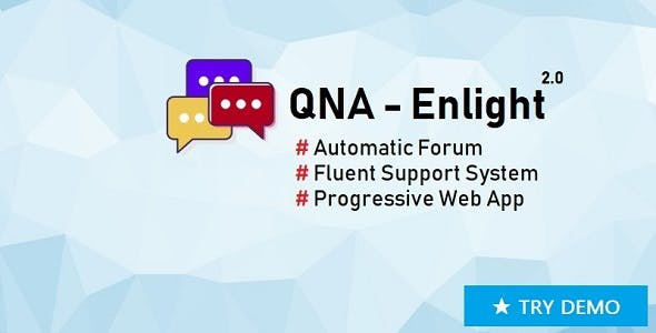 QnA-Enlight - Automatic Forum, Fluent Support Ticket, PWA (Laravel, Vue)