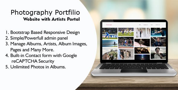 Valise - Photography Portfolio Website with Artists Portal