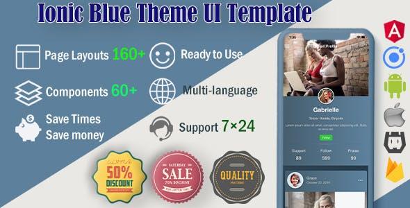 Ionic 5 / Angular 8 UI Blue Theme / Template App | Starter App