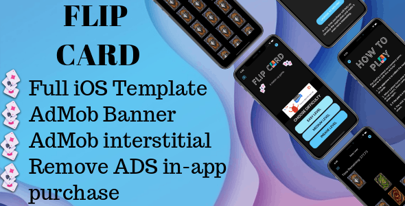 'Flip card - match-up game' iOS full application - CodeCanyon Item for Sale