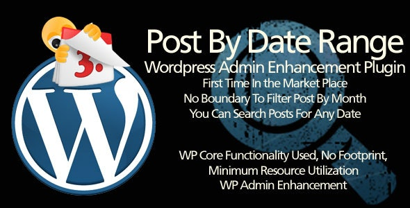 Wordpress Plugin: Post By Date Range - CodeCanyon Item for Sale