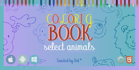 Coloring Book Select Animals • HTML5 + C2 Game - CodeCanyon Item for Sale