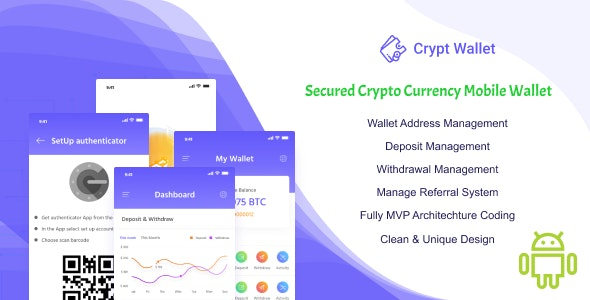 CryptWallet - Crypto Currency Mobile Wallet Pro - CodeCanyon Item for Sale