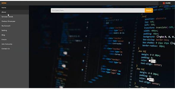 Full Screen Modal Nav Using Pure HTML and CSS